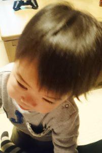 子供の髪の毛ビフォア