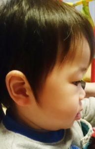 子供の髪の毛サイドビフォア