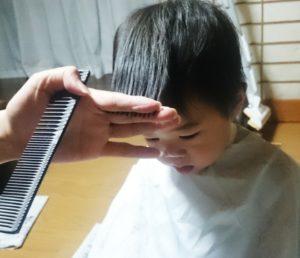 前髪のカット