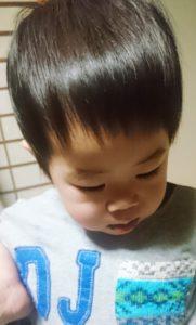 子供の髪の毛前髪アフター